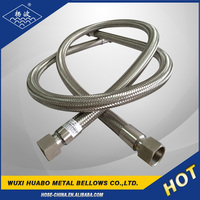 Stainless steel braided flexible shower hose