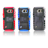 PC+Silicon Shockproof Hard Hybrid Rubberized Kickstand Case for Samsung Galaxy S6 Active G890