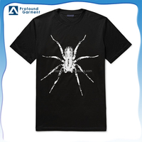 black color bulk wholesale t shirts logos t shirt design with spider pattern for men
