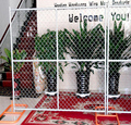 Factory Made Best Selling Iron Welded High Security Temporary Chain Link Fence/Portable Partition Fence Panel Type C