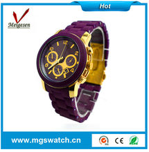 Good quality geneva watch japan movt water resistant