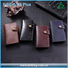 New Arrival PU Leather Wallet Mobile Phone Case With Card Slots For iPhone 5/SE/6/6S/6PLUS, For iPhone 6 Flip back cover