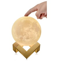 gift Night lights LED 3D Printing in touch Moon Lamp Home Decoration Moon Light