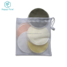 HF001 bamboo nursing pads washable breast pad with laundry bag