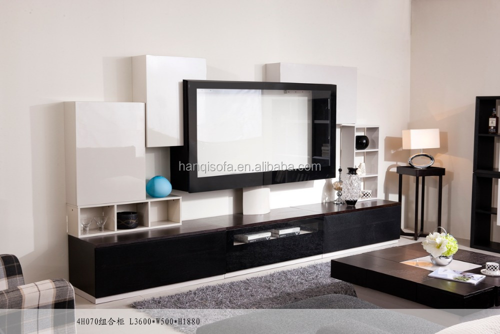 wooden tv stand pictures MDF tv entertainment unit living room furniture