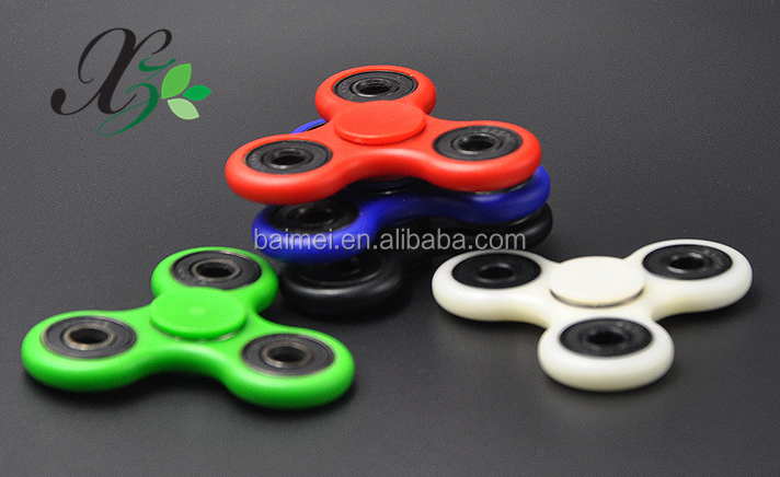 Super quiet Plastic EDC Hand Spinner Fidget spinner Anti Stress Toys finger spinner