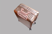 top quality 22 inches aluminum alloy suitcase trolley luggage flight case business case