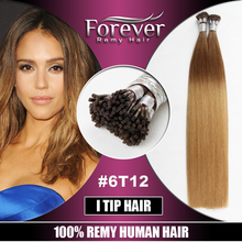 Forever high quality Full cutical cheap 8 to 30 inch 100 remy human ombre i tip hair extension for cheap