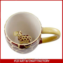 Animal Shaped 3D Ceramic Giraffe Mug