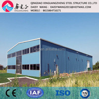 Two storey prefabricated steel structure frame workshop building construction