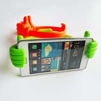 Phone accessories/funny thumb silicone hand holder for cell phone