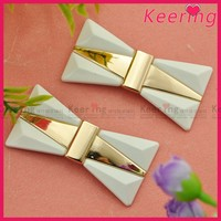 Fashion Bow Design Metal Shoe Clip