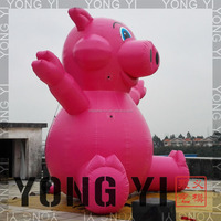 inflatable cartoon pink pig