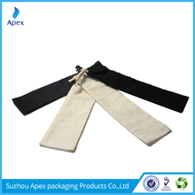 Long cotton fabric packing bag for wine
