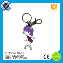 Manufacturer China eco-friendly 3d custom pvc keychain