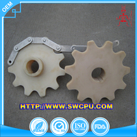 Nylon gear wheel chain conveyor pom tooth for hobby plastic crown gears