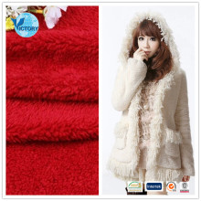 100% Polyester Solid Color Super Soft Sherpa Fleece Fabric for Garment,Toys,Blanket,Bathrobe,Home Textile,Shoes