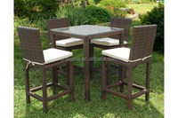 New Design rattan bar set bbq youth table and chair sets