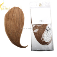 Wholesale virgin indian remy hair clips in bangs, india remy hair wig shop