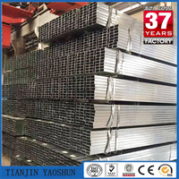hollow section structural rectangular galvanized square steel pipe/tube