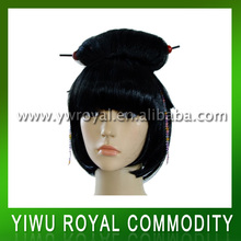 Japanese Doll Style Black Synthetic Barbie Hair Wigs