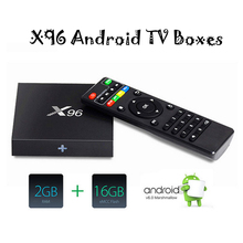 2GB/16GB Optional X96 Android 6.0 TV BOX Amlogic S905X Quad Core Set Top Box WIFI HD 2.0A KD Pre-installed
