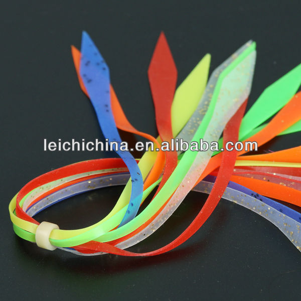 Wholesale silicone fishing skirts silicone jig skirts