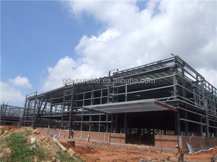 construction design steel concrete structure warehouse shed with high Strength