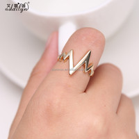 Heartbeat graph fashion ring finger rings photos