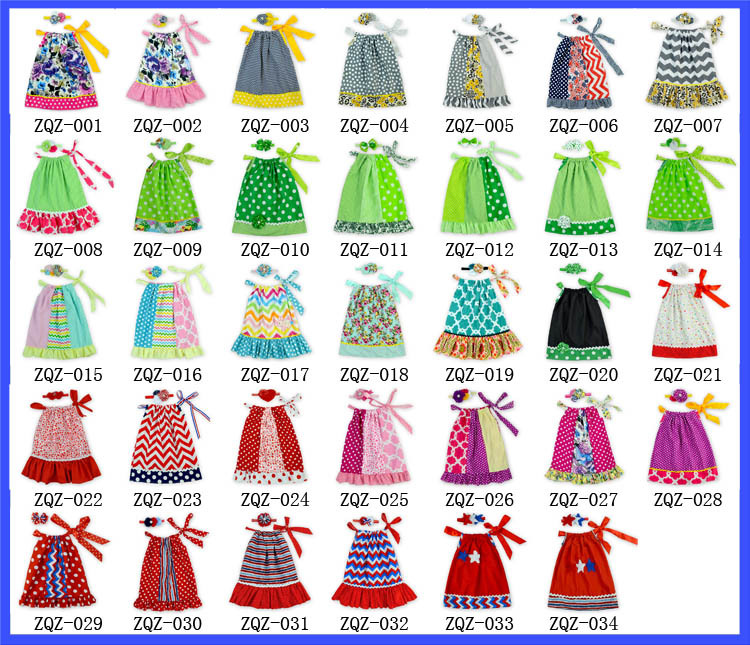 4th Of July Pillowcase Dress For Children One Piece Girls Party Dresses Baby Cotton Frocks Pillowcase dress Designs