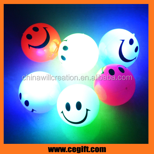 Special Colorful LED Flashing TPR Bouncing Balls With Multi-color Light