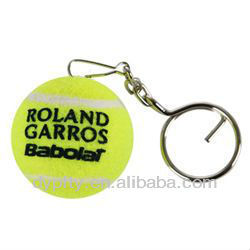2012 new Tennis Ball Keychain