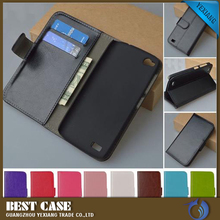 Waterproof leather flip phone case cover for gionee e3 free sample phone case