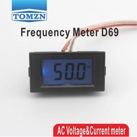 10-199.9Hz Blue LCD Digital Frequency Panel Meter Gauge Cymometer Electrical Instruments