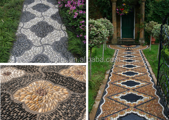 paving black pebbles
