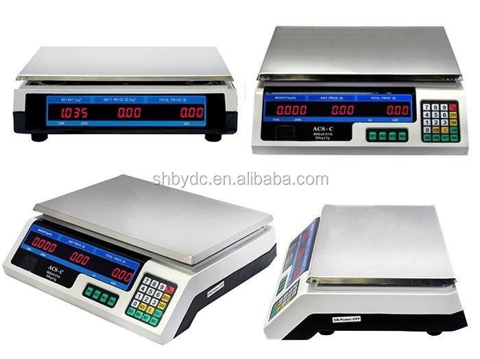 colorful printing meat weighing scales