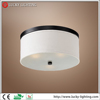 white textured linen frosted glass metal cheap ceiling lamp fixture modern led ceiling lamp