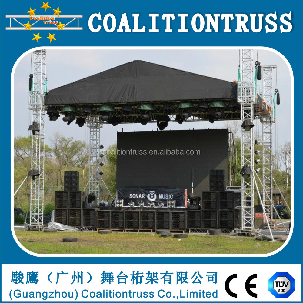 2017 aluminum stage truss for concert outdoor mini DJ truss with canopy