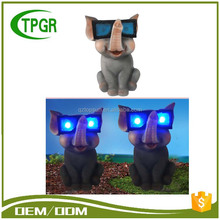 Polyresin Animal Garden Solar Waterproof Led Light Price List With Glasses