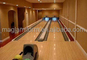 High Pressure Laminate and Compact Laminate Bowling Lane