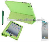 Ultra Slim Magnetic Leather Case Smart Cover for New iPad 4 iPad 3 iPad 2 with Sleep Wake