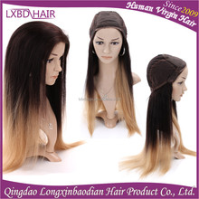 New Arrived Ombre color 100% full lace Remy Human Hair wig