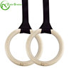 Zhensheng Body Weight Home Gym Training Wood Rings Set with Adjustable Straps