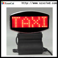 taxi top red color led display