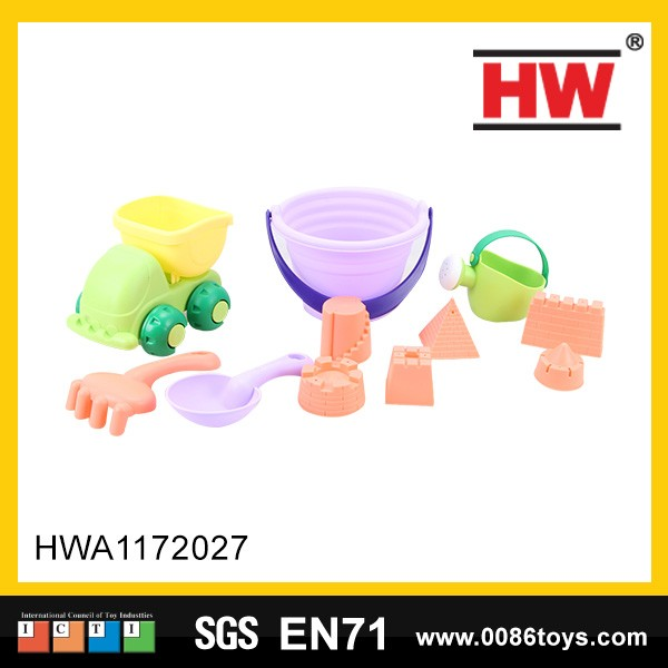 10pcs Sand Toys Good Quality Sand Beach Toy Plastic Beach Bucket