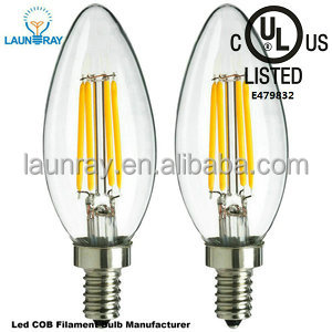 Vintage Edison 2016 Hot LED Filament Bub E12 E14 B22 E27 Candle <strong>Bulb</strong> 6W 4W 2W with UL listed leds