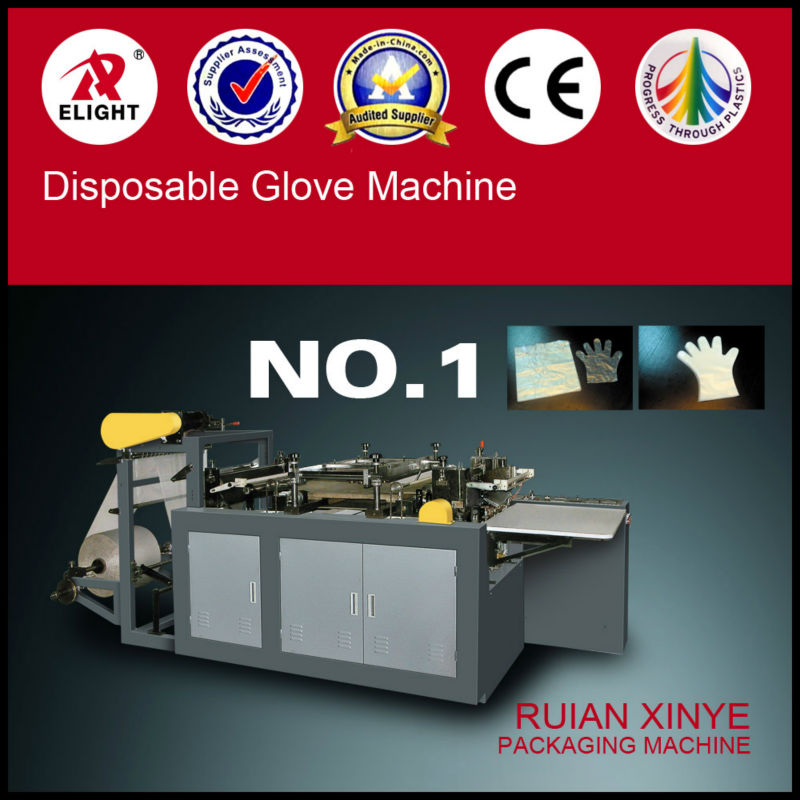 Disposable PE gloves making machines/plastic film one-off gloves maker