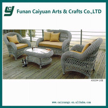 grey wicker Europe style classic model patio furniture