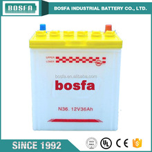 China manufacture 12v 36ah N36 automotive battery products car battery