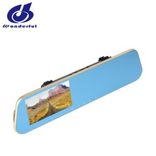 1080P rear view mirror car dvr dash camera with GPS optional